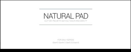 natural pad (daily)